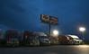 Overnight on the Road (ap0013) Tags: tuscola illinois truck stop trucking truckstop highway interstate billboard night big rig bigrig tuscolaillinois
