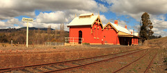 Carcoar Station (Darren Schiller) Tags: abandoned australia architecture building closed carcoar disused decaying deserted empty history heritage infrastructure newsouthwales old panorama rural rustic railway smalltown station sign transport