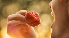 Stay Healthy (aadilbricha) Tags: stayhealthy macro fruit strawberry aardbei bokeh light healthy tamron90mm tamron nikond5200 stayinghealthy