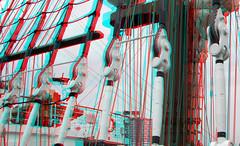 B.A.P. Union Peru 3D (wim hoppenbrouwers) Tags: anaglyph stereo redcyan wilhelminapier rotterdam bap union sailing vessel 3d peru