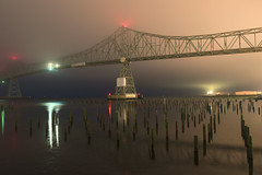 The Astoria Bridge (Curtis Gregory Perry) Tags: astoria bridge oregon columbia river night longexposure pilings waterfront nikon d810 24mm construction