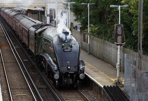 Gresley A4 Pacific 60009 Union of South Africa passing Feltham Station