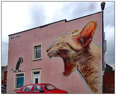 Come on if you think you're hard enough.. (donbyatt) Tags: bristol bedminster upfest2017 murals streetart spraycans graffiti streetartfestival houses irony boe