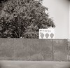 Fresh (efo) Tags: fruitstand fruit strawberry sign film bw ricohflex corningcalif