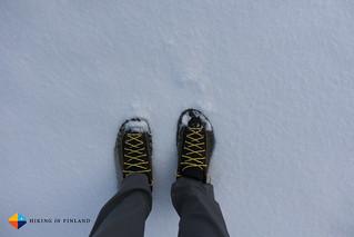 La Sportiva TX2 in the snow