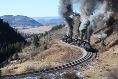 TTHUNDER IN THE MOUNTAINS (dayvmac) Tags: cumbresandtoltec colorado newmexico steam steamtrains trains locomotive heritagerailways railway railroad