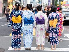 Japanese Yukata Fashion in Harajuku (tokyofashion) Tags: yukata kimono harajuku japanesefashion tokyo japan kawaii colorful obi 2017 tokyofashion