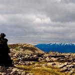 Lava tower, Búðaklettur, and Snæfellsjökull thumbnail