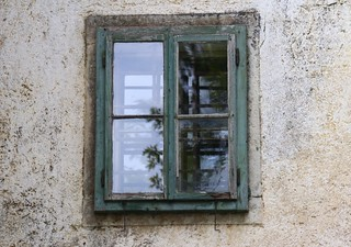 The old window and reflection