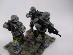 Custom UNSC Marines (Nilbog Bricks) Tags: halo custom unsc marines marine grimy games workshop citadel paint wash mega construx bloks minifigures minifig minifigure figure fig figures