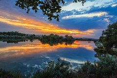Reflections  On The Snake River (http://fineartamerica.com/profiles/robert-bales.ht) Tags: forupload freshwater haybales idaho people photo places projects riverorstream southern states sunsetorsunrise mountain river landscape snake sky outdoor dawn park sunset summer national scenery stream flyfishing sunrise valley usa recreation evening snakeriver outdoors unitedstates twilight fish reflection red sunreflection northwestphotography idahophotography beautiful sensational spectacular riverphotography panoramic awesome magnificent peaceful canonshooter scenic clouds robertbales sun hazy glow riversedgepark trees