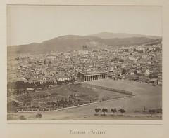 Άποψη του Θησείου και της Αθήνας από τον Λόφο των Νυμφών.Το 2ο μέρος ενός εξάπτυχου πανοράματος της Αθήνας. (Giannis Giannakitsas) Tags: αθηνα athens athenes athen 19οσ αιωνασ 19th century greece grece griechenland πανοραμα panoramic view κωνσταντινοσ αθανασιου konstantinos athanasiou