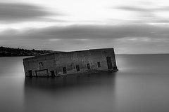 Slow down and enjoy the view (twinsfan7777) Tags: duluth minnesota upnorth lakesuperior greatlakes longexposure duluthliftbridge water clouds enjoytheview vacation abandonedbuilding landscape nikond800 sigma24105mmf4os siruitripod