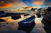 Majestic Early Light Of Tanjung Balau (Syafiqjay) Tags: syafiqjay landscape sunrise sunset nikon singh ray lee filter boat jetty sea cloud rayoflight johor malaysia tanjung balau orange blue dark underexpose