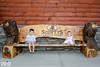 Brother and Sister (Out of the Ordinary Photography) Tags: lake george family photos photography ootophoto outoftheordinary portraits scotty scottys resort lakeside adirondack adirondacks bench wooden rustic children cute find hire carved bears bear