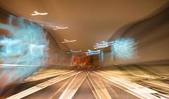 Many Paths to the Future (philia10) Tags: light lightpainting canon70d lightroom escalator lightplay canon people interiordesign urban