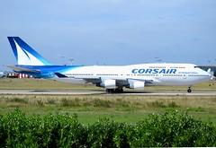 F-HSUN, Boeing 747-422, 26880/984, Corsair International, ORY/LFPO, 2017-08-22, taking-off roll on runway 08/26. (alaindurandpatrick) Tags: fhsun 26880984 744 747 747400 boeing boeing747 boeing747400 jumbojets jetliners airliners ss crl corsair corseairinternational airlines ory lfpo parisorly airports aviationphotography