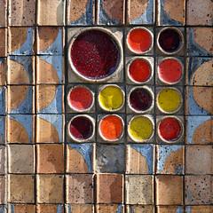 Tiles / Werter Rd (Images George Rex) Tags: london putney uk tiles ceramics wall cladding 3werterroad londonboroughofwandsworth architecture england photobygeorgerex unitedkingdom britain imagesgeorgerex x100s