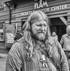 A friendly Viking in Flam, Norway. (f4niko) Tags: bw norway flam viking