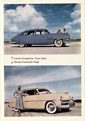 1949 Lincoln Cosmopolitan & Mercury (aldenjewell) Tags: 1949 lincoln cosmopolitan town sedan mercury convertible coupe ford times july 1948 magazine