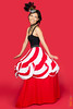 Nicole Wong Circus Tent Dress (ScottRKline) Tags: circustentdress featherhat nicolewong redbackground scottrklinephotography steampunk