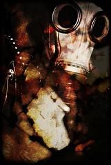 Eschaton (Setnakhte) Tags: gasmask barbedwire layers apocalypse apocalyptic war dark nuclear decay eschatology doomsday doom endtimes abstract horror terror postapocalyptic martial destruction