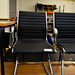 Black leatherette meeting chair  E60