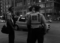 """Keeping An Eye on Things"" - Downtown Chicago at Night - 10 Aug 2017 - 7D II - 114 (Andre's Street Photography) Tags: chicago10aug20177dii city metro metropolis chicago chicagoland downtown chitown secondcity windycity loop fortdearborn cops policeofficers chicagocops chicagopolicedepartment chicagosfinest street straat michiganavenue michiganmadison straatportret straatfotografie streetportrait streetphotography fotografiadistrada strasse strada lacalle larue streetlife keepinganeyeonthings lawenforcement presence vigilant police safe tourist destination urbanlife urbanphotography blackandwhite bw blackwhite bwphoto zwartwit schwarzweiss noiretblanc blancoynegro blancoenero photobyandrevanvegten chicagoistphotos chicagocapture chicagoil aroundillinois enjoyillinois chicagostreets nightfall afterdark atnight nightphotography streetsatnight citiesatnight tributetoedvanderelsken dedicatedtodianearbus robetfranksworld vivianmaiersstyle chicagotribune chicagomagazine chicagojournal chicagoreader chicagoist dedeka"