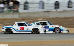 Porsche 914-6 vs 935 (gregthestig) Tags: vintage racing rolex monterey motorsports reunion racecar automotive laguna seca raceway car week porsche 914 9146 935