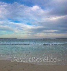 Beach Day (1DesertRose) Tags: jervisbay nsw australia australianbeaches beaches sand waves sky clouds clearwater water beachscene day cloudy summer