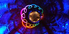 Coloured blue night (guenther_haas) Tags: ulm stadtmauer innerworld night nightshot lightpainting nachtaufnahme langzeitbelichtung long exposure coloured bunt ricoh thetas workshop
