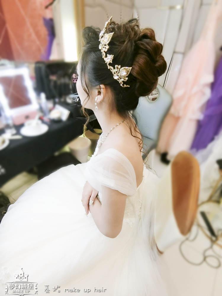 【新秘蓁妮】bride怡靜 結婚造型 / 台中僑園大飯店