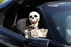 Car Show, Warrenville. 7 (EOS) (Mega-Magpie) Tags: canon eos 60d warrenville summer daze car show dupage il illinois usa america cute funny prop skeleton
