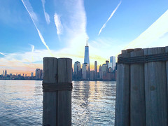 PIERS - NYC (BFru) Tags: freedom tower new york nyc manhattan lower hudson river world trade center piers downtown docks jersey city cityscape towers skyscrapers