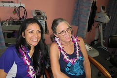 Amanda and Mendy (BarryFackler) Tags: southkonaphysicaltherapy southkonaphysicaltherapy10thanniversary celebration party friends physicaltherapy smallbusiness aloha captaincookhawaii kealakekuaranchcenter clinic medicaloffice 2017 happy hawaii southkona polynesia westhawaii hawaiiisland captaincookhi amanda mendy physicaltherapist itspecialist smile smiling smiles lei tractiontable estim people indoor