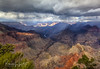 Thunderstorm Near Hermits Rest, Grand Canyon National Park, Arizona (rebeccalatsonphotography) Tags: morning thunderstorm storm clouds ominous vista wideangle panoramic panorama hermitsrest nationalpark np az arizona grandcanyon colorful southwest canon 5dmkii rebeccalatsonphotography autumn november fall