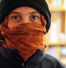 The eyes are the windows of the soul (ybiberman) Tags: israel jerusalem girl adolescent hat kafiya smile eyes portrait candid streetphotography