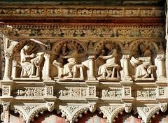 Bergamo - Santa Maria Maggiore (Martin M. Miles) Tags: bergamo cittàalta santamariamaggiore portal giovannidacampioneportadeileonibianchi stonemason selfportrait workshop lombardy italy