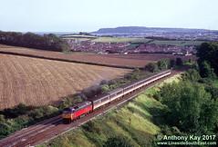 47489_11-9-1993 (LinesideSouthEast) Tags: brushtype4 class47 diesellocomotive dorset intercity rail railroad railway railways res track tracks train trains