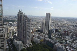 Shinjuku Park Tower and Tokyo Opera Tower in Shinjuku, Japan