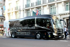 Golden Tours . London . YS16LNM .  Marble Arch , London . Thursday 31st- August-2017 . (AndrewHA's) Tags: bus coach london marblearch golden tours irizar i6 integral route branded bicester shopping village oxfordshire ys16lnm