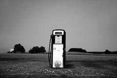 """Portrait of an Old Gas Pump"" (helmet13) Tags: d800e raw bw landscape gaspump petrolpump simplicity calmness offduty aoi peaceaward heartaward world100f platinumheartaward 200faves"