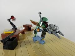 Look Mom, no disintegrations! (Greeble_Scum) Tags: lego milleniumfalcon starwars bobafett minifigure moc scifi