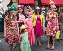 After Shot (UrbanphotoZ) Tags: easterparade women girls dresses floral hats chicken nest crochet monkey flowers chicks eggs decorated crate cartier camera fifthave midtown manhattan newyorkcity newyork nyc ny