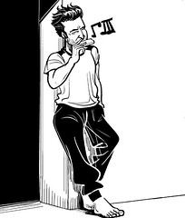 #musician #harmonica #blues #amateur #artist #practice #music #art #illustration #blackandwhite #sketchoftheday #drawing (lipuster) Tags: childhood life kids india innocence stories art illustration sketch drawing