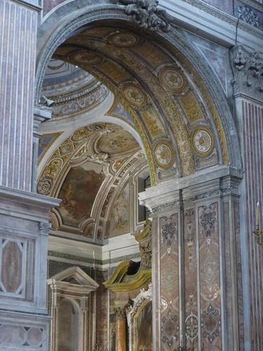 Géométrie baroque, église Gesù Nuovo (1584-1725), piazza del Gesù Nuovo,  Naples, Campanie, Italie.