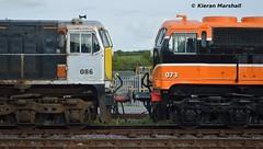 086 and 073 at Limerick Junction, 29/8/17 (hurricanemk1c) Tags: railways railway train trains irish rail irishrail iarnród éireann iarnródéireann 2017 generalmotors gm emd 071 limerickjunction 073 086