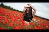 * (Henrik ohne d) Tags: eos5dmk2 ef85mmf18 june2017 portrait netti red poppy poppies poppyfield fieldofpoppies