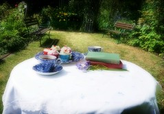 DSC02744-003 (suzyhazelwood) Tags: gardens garden summer teapot tea teacup sunlight teaparty books cakes cake cupcakes food uk england sony a6000 creativecommons