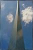 St. Louis Arch, unique perspective (Steve4343) Tags: nikon d70s st louis arch missouri clouds blue grey white beautiful angle shadows steve4343